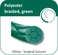 Polyester braided, green